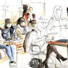 dessin audience partie civile féminicide Aïssatou